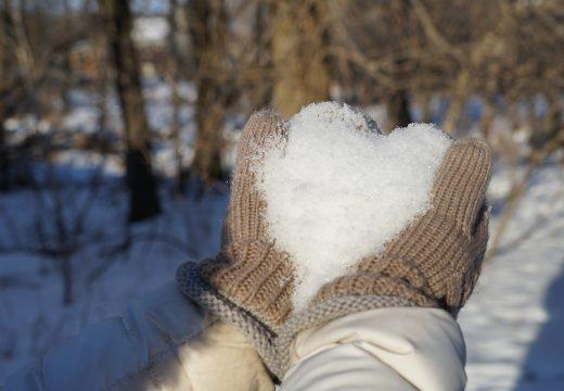 mains, Coeur et neige